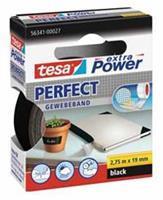 TESA Plakband  textiel 19mmx2.75m zwart