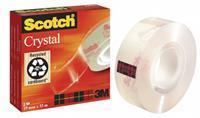 Scotch Plakband Crystal Clear 600 19 mm x 33 m. asgat 25 mm (rol 33 meter)