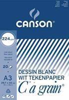 """Canson tekenblok """"C"""" à grain 224 g/m², ft 29,7 x 42 cm (A3)"""