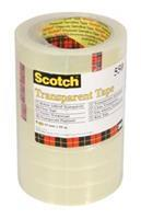 Scotch Plakband  550 19mmx66mm transparant krimp 8rollen