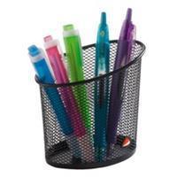Alba pennenpotje in mesh metaal, zwart