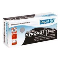 Doos van 5000 nietjes Rapid 26/8 gegalvaniseerd Super Strong