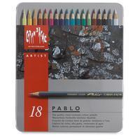 Kleurpotloden  Pablo assorti blik à 18stuks