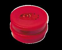 Legamaster Magneet rond 10 mm. magneetsterkte 150 gram. rood (pak 10 stuks)