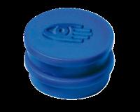 Legamaster Magneet rond 10 mm. magneetsterkte 150 gram. blauw (pak 10 stuks)