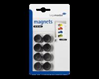 Legamaster Magneet  20mm 250gr zwart 8stuks