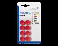 Legamaster Magneet  20mm 250gr rood 8stuks