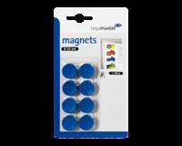 Legamaster Magneet  20mm 250gr blauw 8stuks