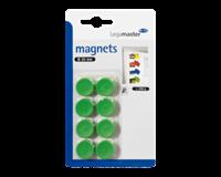 Legamaster Magneet  20mm 250gr groen 8stuks