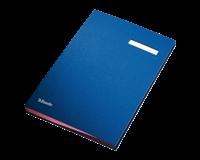 Esselte Vloeiboek  6210 karton 20tabs blauw