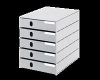 Styro Ladenbox val 5 laden grijs gesloten