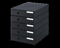 Styro Ladenbox val 5 laden zwart gesloten