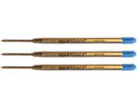 Quantore 12  balpenvullingen blauw medium (0,7 mm)