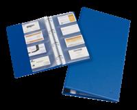 Rillstab Visitekaartenringband  18905 4-rings kunststof blauw