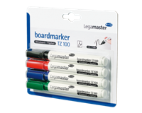 Legamaster Viltstift  TZ100 whiteboard rond ass 1.5-3mm 4st