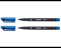 Stabilo Viltstift  OHP 843/41 rond blauw 1mm