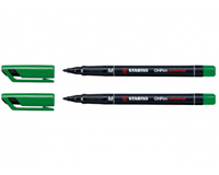 Stabilo Viltstift  OHP 843/36 rond groen 1mm