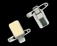 Badge  clip met speld zelfklevend
