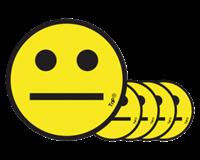 Tnp Magneet smiley 25mm emotie neutraal geel