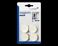 Legamaster Magneet  30mm 850gr wit 4stuks