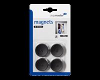 Legamaster Magneet  30mm 850gr zwart 4stuks