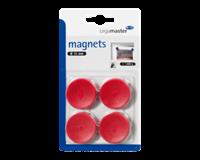 Legamaster Magneet  30mm 850gr rood 4stuks