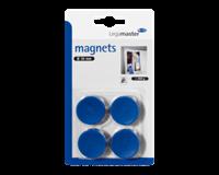Legamaster Magneet  30mm 850gr blauw 4stuks