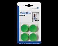 Legamaster Magneet  30mm 850gr groen 4stuks
