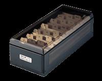 KW-triO Visitekaartenbak  75x105x270mm tbv 800 visitekaartjes metaal