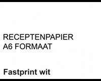 Fastprint Receptpapier  A6 80gr wit 2000vel