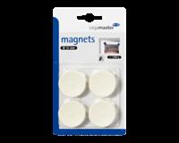 Legamaster Magneet  35mm 1000gr wit 4stuks