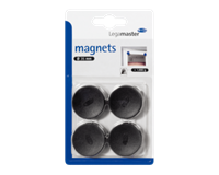 Legamaster Magneet  35mm 1000gr zwart 4stuks