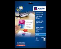 Avery Visitekaart  C32028-10 85x54mm 250gr glans 80stuks