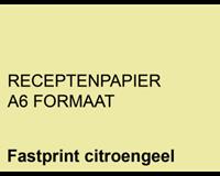 Fastprint Receptpapier  A6 80gr kanariegeel 2000vel