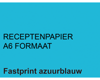 Fastprint Receptpapier  A6 80gr lichtblauw 2000vel