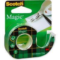 scotch plakband Magic Tape, ft 19 mm x 7,5 m, blister met dispenser