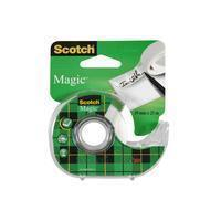 Scotch plakband Magic Tape ft 19 mm x 25 m, blister met dispenser en 1 rolletje