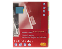 Multo Tabbladen  A4 23R 10-delig karton assorti