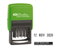 Colop Datumstempel  S220 green line 4mm
