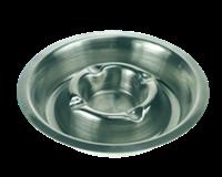Vepa Bins Asbak RVS asbak stapelbaar met binnenring. diameter 16 cm