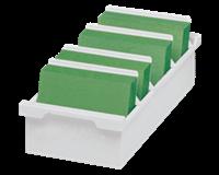 Multiform Kaartenbak Exacompta A6 trog kunststof grijs