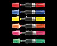 Stabilo Tekstmarker Luminator XT 2 - 5 mm. rood (pak 5 stuks)