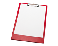 Rode klemmap  A4/Folio met penlus