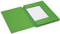Jalema Dossiermap  Secolor folio 3 kleppen 225gr groen