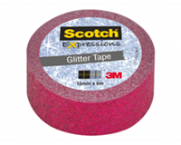 Scotch Expressions glitter tape, 15 mm x 5 m, multi colored
