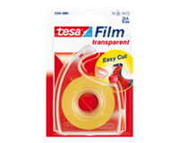 TESA Plakband  film 19mmx33m transparant op dispenser