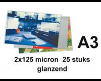 gbc Lamineerhoes  A3 2x125micron 25stuk