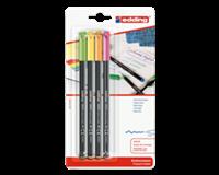 edding Fineliner  1200 neon assorti 1mm blister à 4 stuks