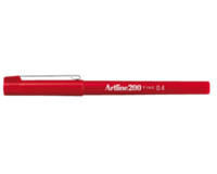 Artline Fineliner  200 rond 0.4mm rood