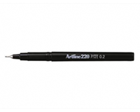 Artline Fineliner  220 rond 0.2mm blauw